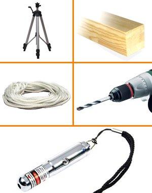 Составные материалы для изготовления лазерного нивелира своими руками