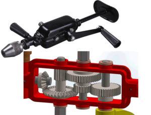 Двухскоростная ручная дрель конструкция
