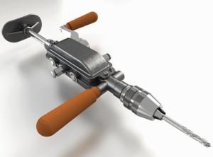 Современный вид механической дрели