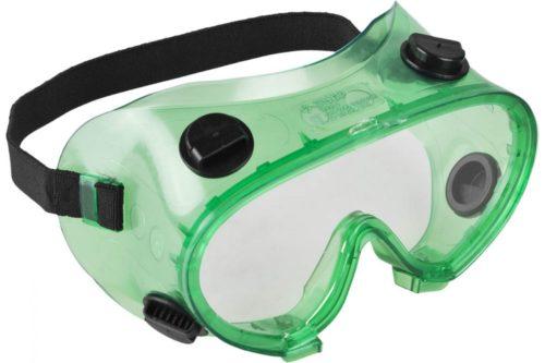 Защитные очки закрытого типа с вентиляционными отверстиями