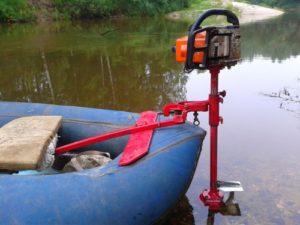 Лодочный мотор от бензопилы как установить