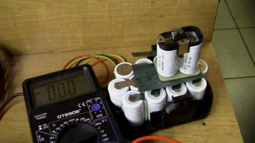 Ремонт батареи шуруповерта