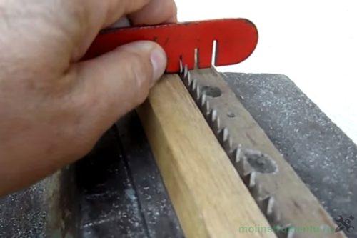 Разводка зубьев процесс
