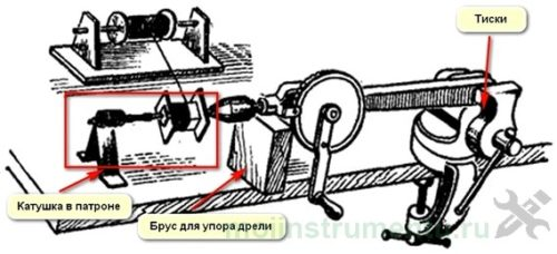 Что сделать из ручной дрели намотка катушек