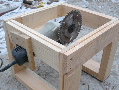 Как болгарку использовать для изготовления циркулярки