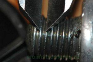 Измерение резьбы штангенциркулем