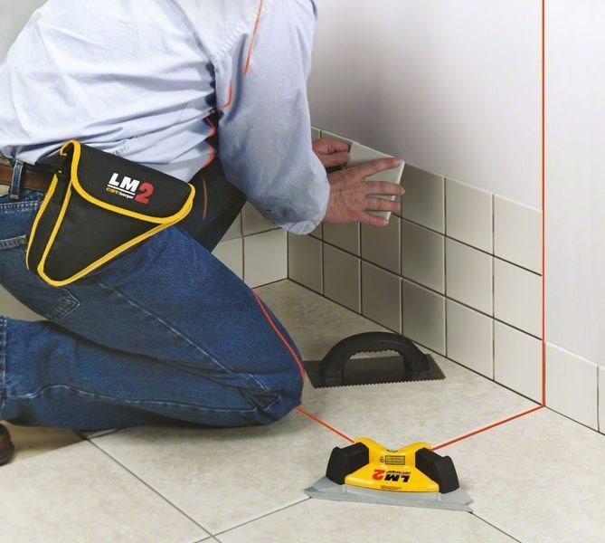 Как пользоваться лазерным нивелиром при укладке плитки
