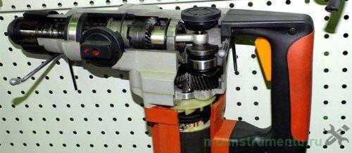 Конструкция бочкового перфоратора в разрезе