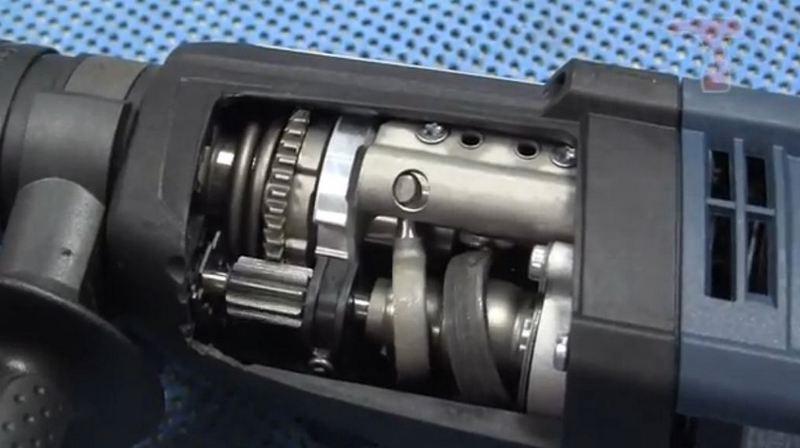 Механическая часть перфоратора