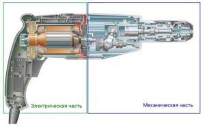 Перфоратор ремонт электрической и механической части