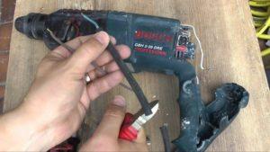 Поврежденный провод перфоратора ремонт