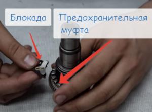 Принцип работы роликовой муфты на перфораторе