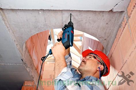 Сверление бетона дрелью
