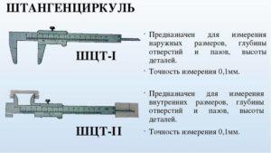 Типы штангенциркулей