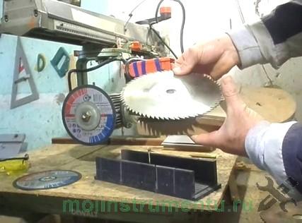 Затачиваем пильный диск станком