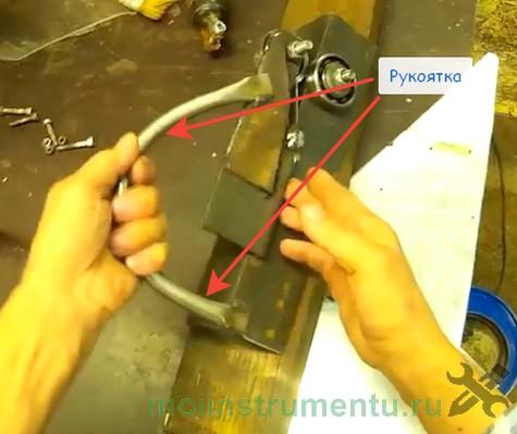 Как сделать роликовый нож изготовление рукоятки