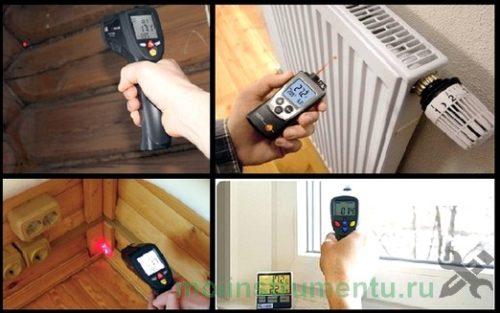 Определение тепловых потерь в доме пирометром