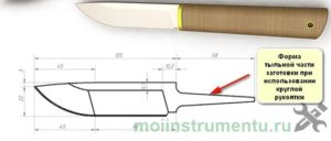Схема заготовки ножа