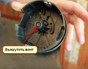 Как снять головку триммера выкрутить отверткой