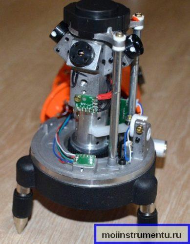 Как выглядит уровень лазерный внутри