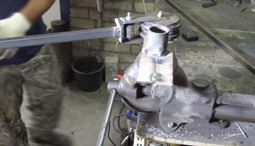 Конструкция станка для сгиба труб и профиля