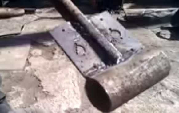Простейший трубогиб из двух труб