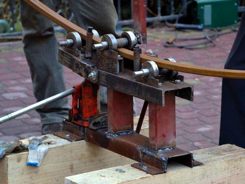 Трубогиб с домкратом конструкция