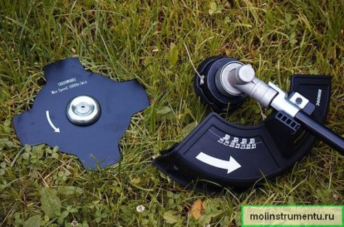 Что ставить на триммер леску или диск