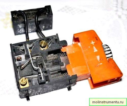 Конструкция кнопки дрели и ее ремонт