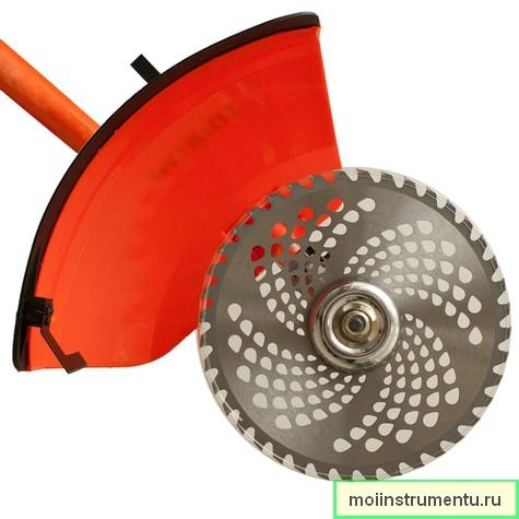 Перфорированный диск на триммер устройство