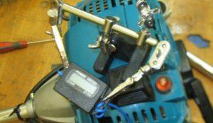 Регулировка триммера тахометром