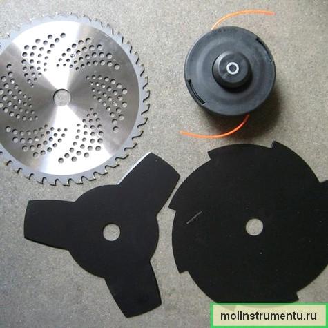 Выбор дисков и лески для триммера