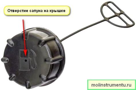 Сапун в крышке бензобака триммера не заводится бензокоса