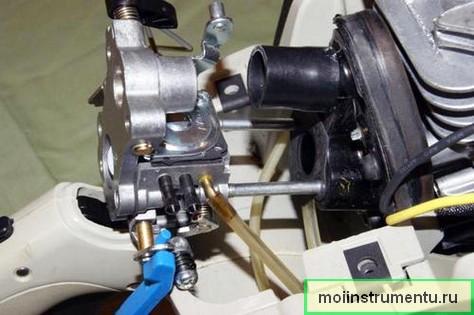 Чистка карбюратора бензопилы
