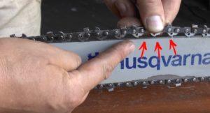 Как натянуть цепь на бензопиле