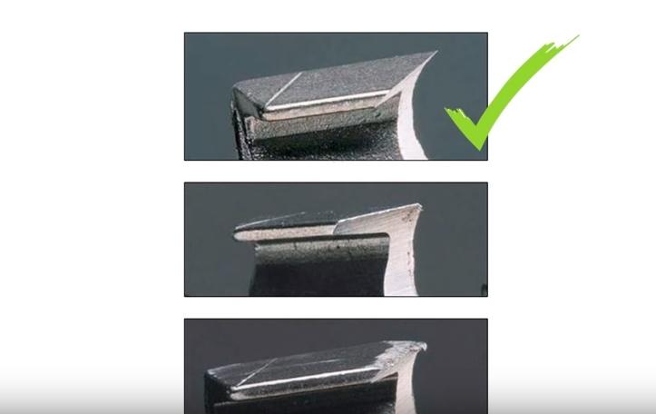 Криво пилит пила по причине неравномерной заточки зубьев