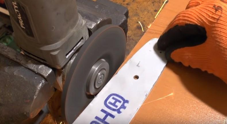 Стачивание поверхности шины