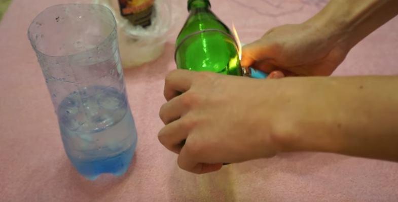 Как разрезать бутылку ниткой
