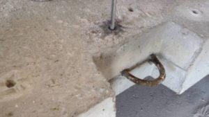 Если попал на арматуру в бетоне что делать