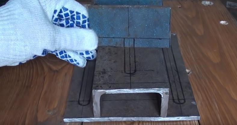 Разметка на подвижной губке