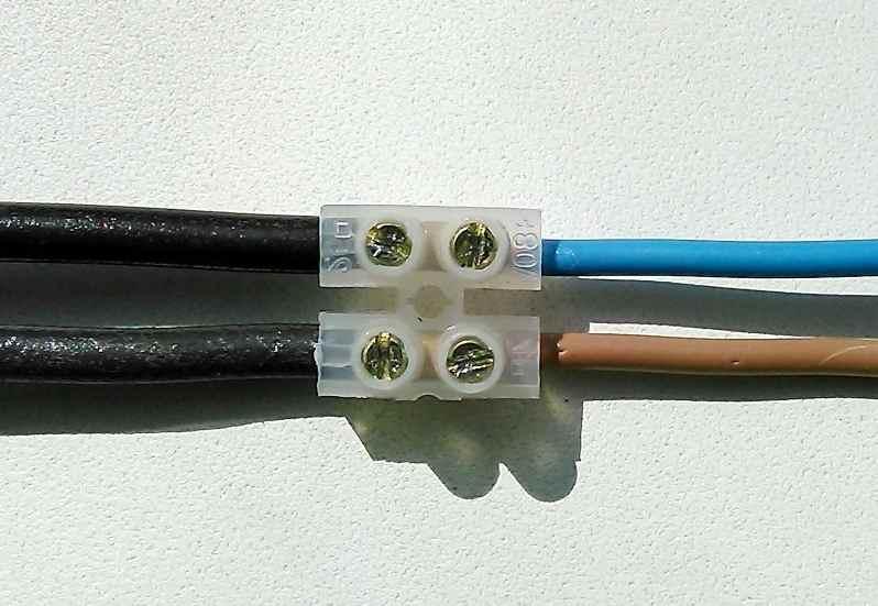 Соединение медного и алюминиевого проводов