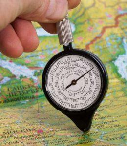 Курвиметр для измерения расстояний