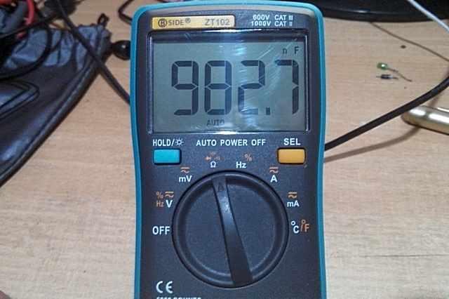 Проверка емкости конденсаторов