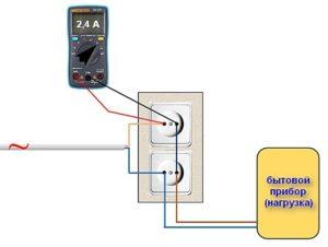 Схема проверки силы тока мультиметром