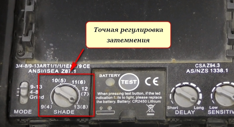 Регулятор затемнения светофильтра