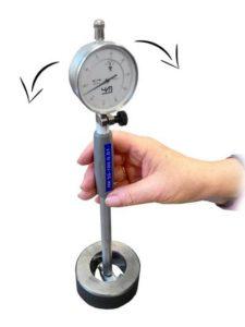 Как настроить индикаторный нутромер