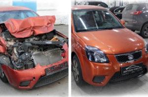 Авто после ДТП и после реставрации