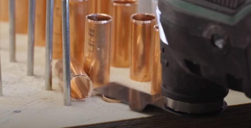 Резка труб из меди и алюминия