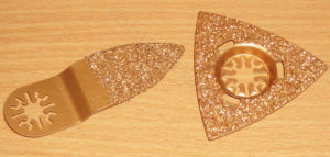 Виды насадок на мультитул по керамике и бетону