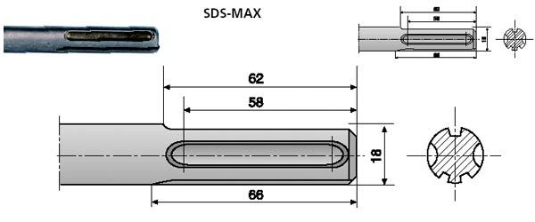 Хвостовик SDSmax